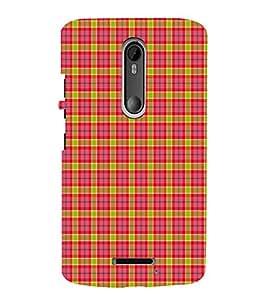 EPICCASE red squares Mobile Back Case Cover For Moto X 3rd Gen (Designer Case)