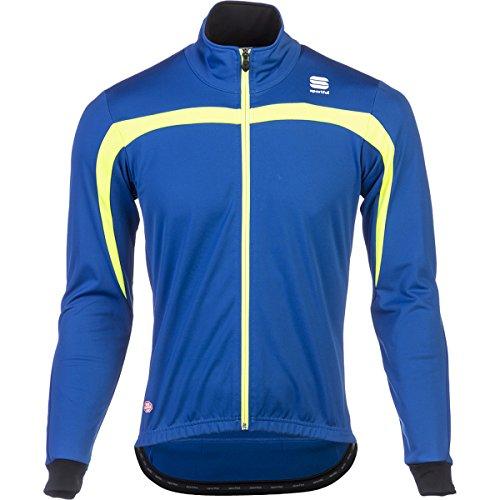 Sportful WS Ascent Jacket, Giacca da Bici Uomo 1101033 (Azzurro/Giallo Fluo, M)
