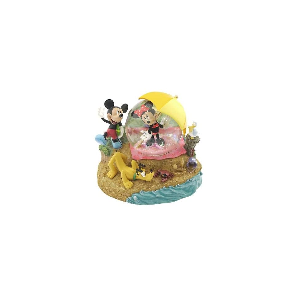 Disney Mickey Minnie Mouse Day at the Beach Pluto Snowglobe