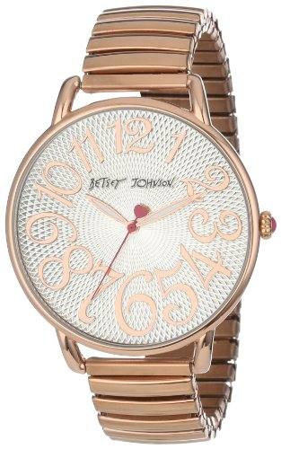 Betsey Johnson Women's BJ00207-04 Analog Rose Gold Expansion Band Watch