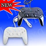 Manette Jeu Video Classique Pro Noir Compatible Nintendo Wii