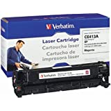 Verbatim Remanufactured Toner Cartridge Replacement for HP CE413A ( Magenta , 1-Pack )