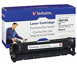 Verbatim HP CE413A Remanufactured Toner Cartridge for Color LaserJet HP M351, M375, M475, M451, Magenta 98471
