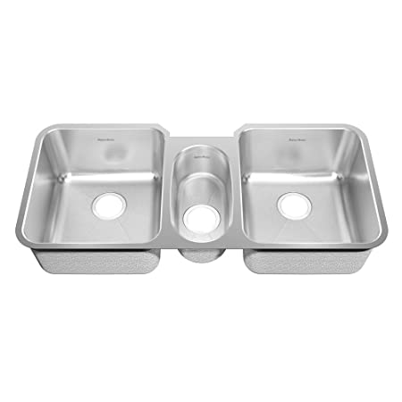 American Standard 16TB..411900.073 Prevoir 41-Inch Stainless Steel Undermount Triple Bowl Kitchen Sink, Radiant Silk