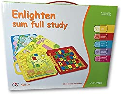 Inventis Enlighten Sum Full Study Maths Counting Activity Learning Game Educational Toy Kids Reading Practice Creative Memory Concentration Phonics Creativity Brain Development Return Gift Quiz Puzzle Mini Briefcase Portable Bag Brain Booster