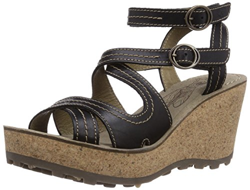 Fly London GHEE, Sandali donna, Nero (Schwarz (Black 002)), 37