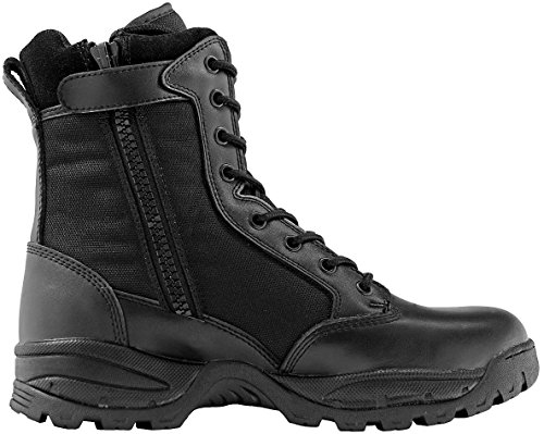 Maelstrom Women's TAC FORCE 8 Inch Military Tactical Duty Work Boot with Zipper, Black, 7 M US