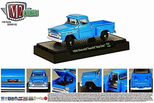 1958 CHEVROLET APACHE STEP SIDE * Auto-Trucks Series Release 32 * M2 Machines 2015 Castline Premium Edition 1:64 Scale Die-Cast Vehicle ( R32 15-03 ) (Gmc Truck Scale compare prices)