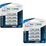 GS Yuasa eNiTIME 8 Pack AA Ni-MH Rechargeable Batteries