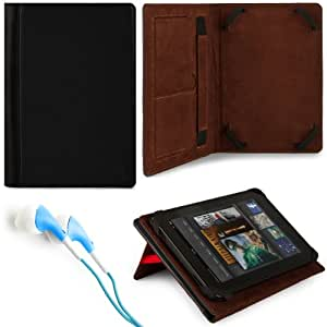 MyVangoddy Marry Edition VG Brand Folio Stand Alone Protective Leatherette Carrying Case Cover Case Cover-Black