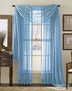 neon blue aqua 216 quot sheer window scarf home