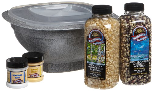 Fireworks Popcorn Microwave Popping Bowl and Gift Set,  Gift Box