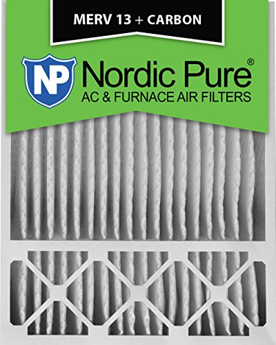 20x25x5 Nordic Pure MERV 13 Plus Carbon Air Filters Qty 2 Honeywell Replacement