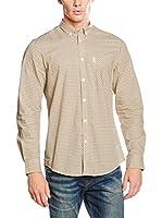 Ben Sherman Camisa Hombre Mini Mod Check (Amarillo / Azul / Blanco)