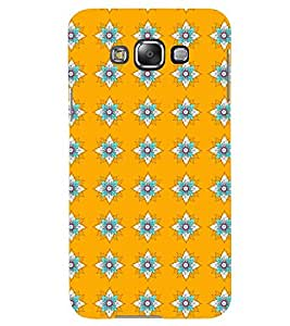 Printvisa Yellow And Flue Floral Pattern Back Case Cover for Samsung Galaxy Grand 3 G720::Samsung Galaxy Grand Max G720