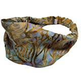 Silly yogi printed active floral yoga rayon headband-Green-One size