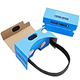 QPAU V2.0 3D Google Cardboard Vr Glasses Kit Includes Sponge Nose Pad and QR Codes