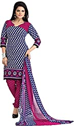 MELLUHA Multi Printed Cotton Dress Material
