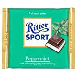Ritter Sport Chocolate 100g Peppermint - Each