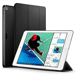 新型 iPad 9.7 2017 ケース ESR 超軽量 極薄 レザー 三つ折スタンド オートスリープ機能