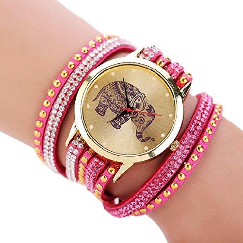 bracelet-mikey-store-elephant-rivet-braided-winding-wrap-wristwatch-hot-pink