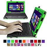 """Fintie ASUS Transformer Book 10.1 inch Laptop T100TAM / T100 / T100TA / T100TAF Case - Premium PU Leather Keyboard Stand Cover For ASUS Transformer Book 10.1"""" Detachable 2-in-1 Touch Laptop, Green"""