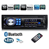Regetek Car Radio Audio Stereo Receiver Bluetooth Handsfree Head Unit Single DIN In Dash 12V FM SD/USB/Aux MP3 Player+ Remote Control
