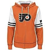 NHL Philadelphia Flyers Women's Turnbuckle Fleece, Dark Orange/White/Black, Medium