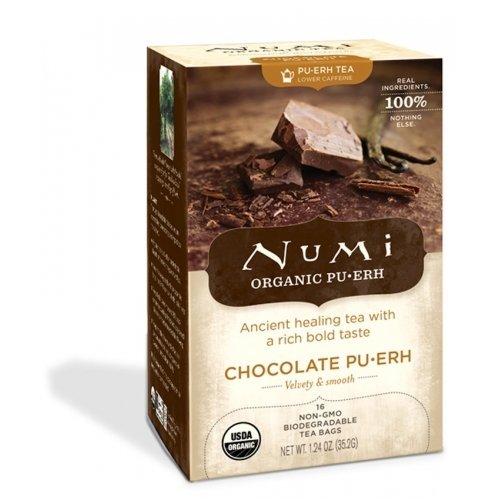 Numi Organic Chocolate Puerh Black Tea - 16 bags per pack -- 6 packs per case. by Numi (Numi Chocolate Puerh compare prices)