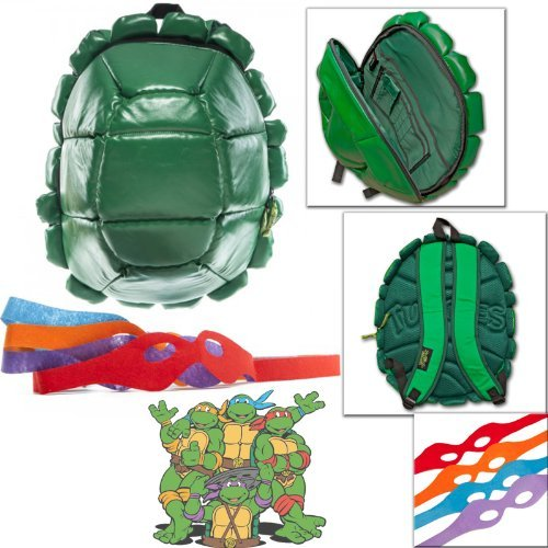 TMNT Teenage Mutant Ninja Turtles Backpack with FREE Headbands Turtle Spin Bag