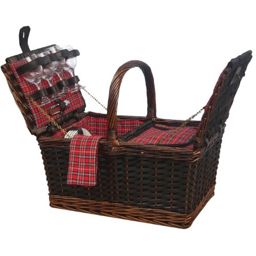 Sutherland Baskets Medley de Mesa Insulated Picnic Basket for 4