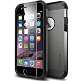 iPhone 6 Case, Spigen [Lock-In Screen Protector] Tough Armor Case for Apple iPhone 6 (4.7 Inch) [EXTREME Protection] - Gunmetal (SGP11281)
