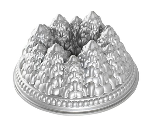 Nordic Ware Pine Forest Bundt Pan, Metallic (Tree Cake Pan compare prices)