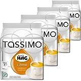 Tassimo Café HAG Crema Entkoffeiniert, Kaffeekapsel, Gemahlen, Röstkaffee, 4er Pack, 4 x 16 T-Discs