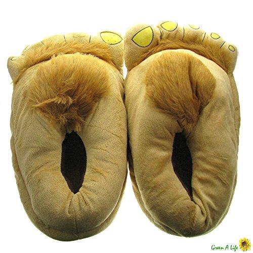 Novelty Hairy Plush Hobbit Feet Adventure Costume Furry Adventure Slippers