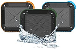 Best Portable Outdoor Bluetooth 4.0 Speaker Shower Waterproof, Wireless with 10 Hour Rechargeable Battery Life, Powerful Audio Driver, Pairs with All Bluetooth Devices