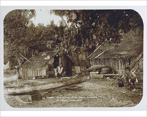 photographic-print-of-a-tahitian-village-scene