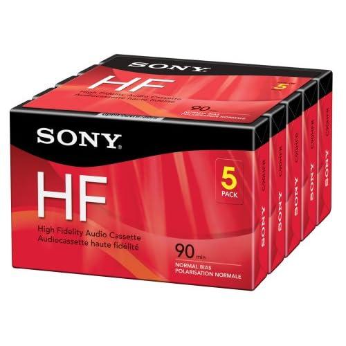 Sony 5C90HFR 90-Minute HF Cassette Recorders 5-Brick