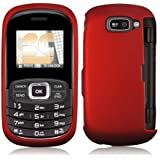 NEW RED RUBBERIZED HARD CASE COVER FOR VERIZON LG OCTANE VN530 CELL PHONE
