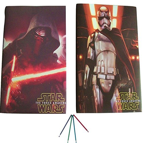 2 Star Wars Folders with Pockets - Super For Homework Prong and Brads - With Pencils - Great w/ binders ! Keeps Boys Work Protected & Presentation Ready Kylo Ren w/ Lightsaber & Captain Phasma Folder (Law Order Season 13 compare prices)