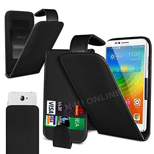 n4u-onliner-clip-on-pu-leather-flip-case-cover-pouch-for-lenovo-a1000-black