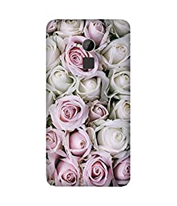 White And Pink Rose HTC One Max Case