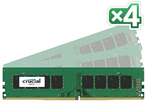 Crucial  Single DDR4 2133 MT/s (PC4-17000) CL15 SR x8 Unbuffered DIMM 288-Pin Desktop Memory