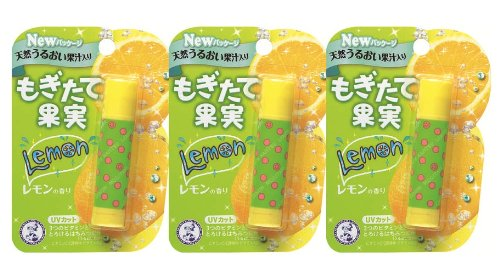 メンソレータム もぎたて果実 レモンの香り 4.5g 3個セット