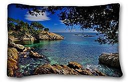 Generic Baby Boys\' Landscapes castell-platja daro catalonia spain costa brava Costa Brava Catalonia Spain Mediterranean stones branch coast Size 20x30 Inches