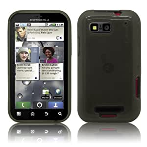 PrimaCase - Schwarz TPU Silikon Case für Motorola Defy / Defy+ Plus