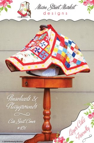 Pinwheels & Playgrounds Car Seat Cover Sewing Pattern #101 front-87267