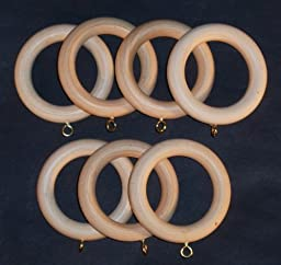 Wooden Drapery Pole Rings for 1-1/4\