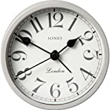 Essentialz Jones by Newgate Large Tibbet Alarm Clock with C7 Mini Pocket LED Projection Clock