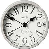 Essentialz Jones by Newgate Large Tibbet Alarm Clock with C7 Mini Pocket LED Projection Clock